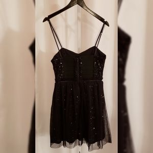 French Connection Dresses - French Connection Black tulle and sequin dress